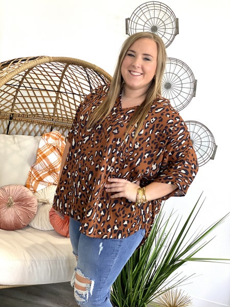 The Caramel Leo Poncho Top