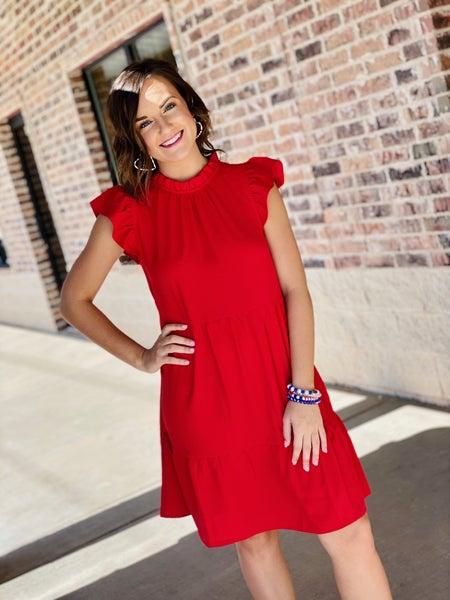 The Brianna Dress in Red