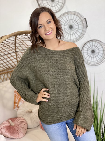 The S'Mores Sweater in Moss