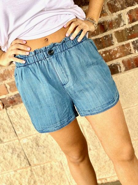 The Hang Loose Shorts-Denim