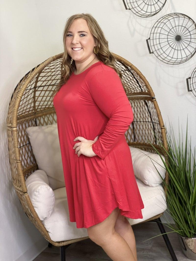 LD STEAL #34: CURVY LS TShirt Dress
