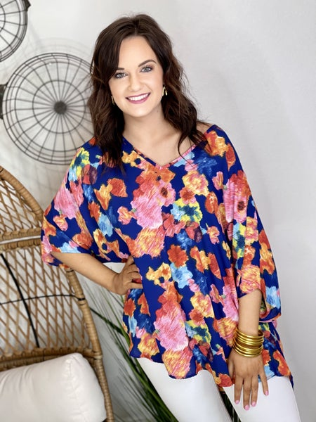 The Floral Fix Poncho Top