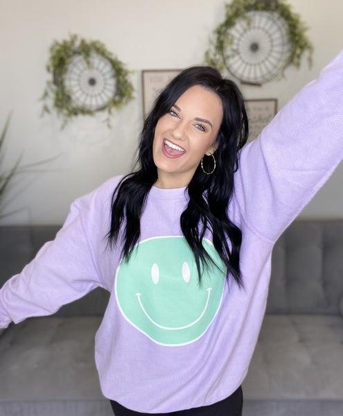 The Pastel Smiley Pullover