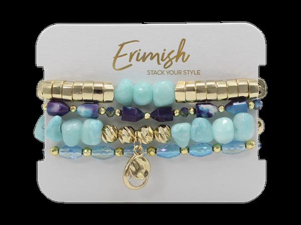 Erimish Slither Stack-Turquoise