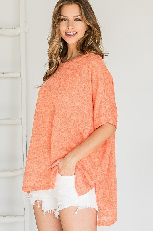 The Neon Orange Float Top in All Sizes