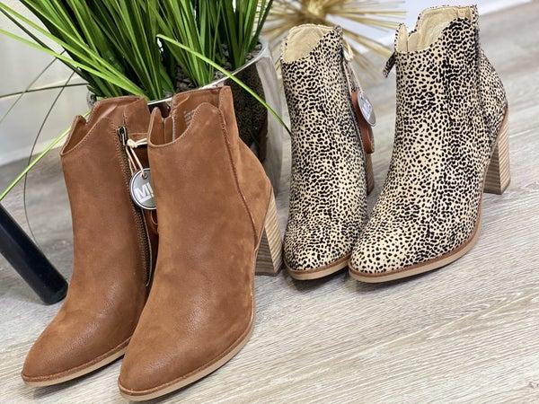 The Patton Bootie - Brown/Cheetah