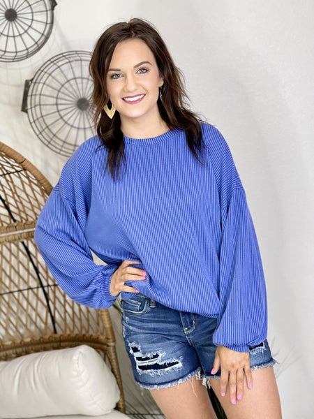 Dreaming of Paris Pullover Blue