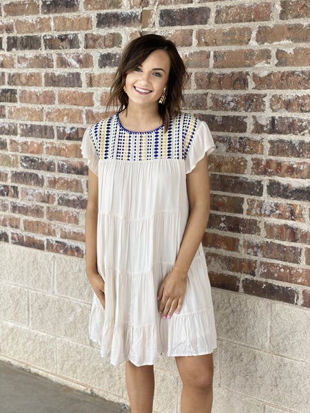 The Embroidered Tier Dress