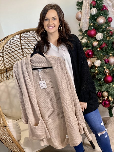 The Knitted Dolman Cardigan - 2 Colors