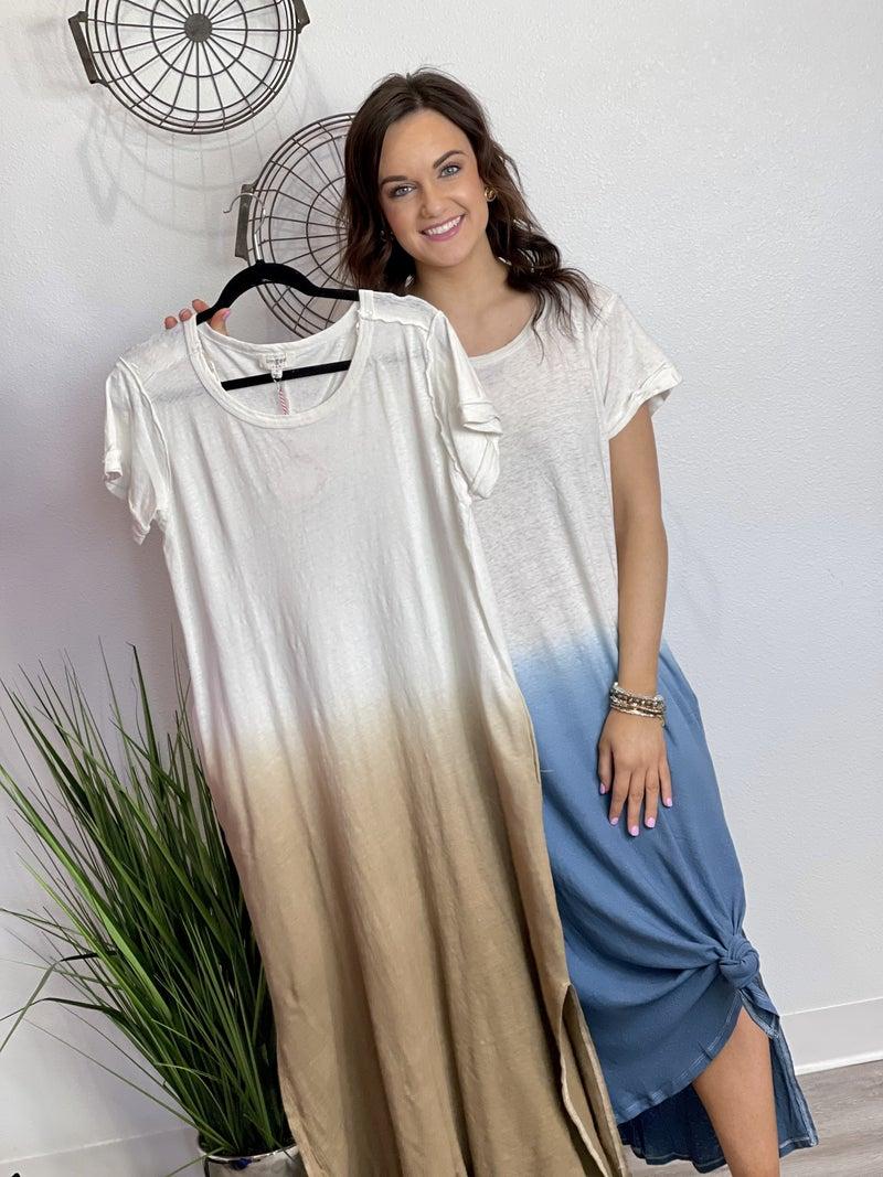 The Linen Dip Dress - 2 Colors