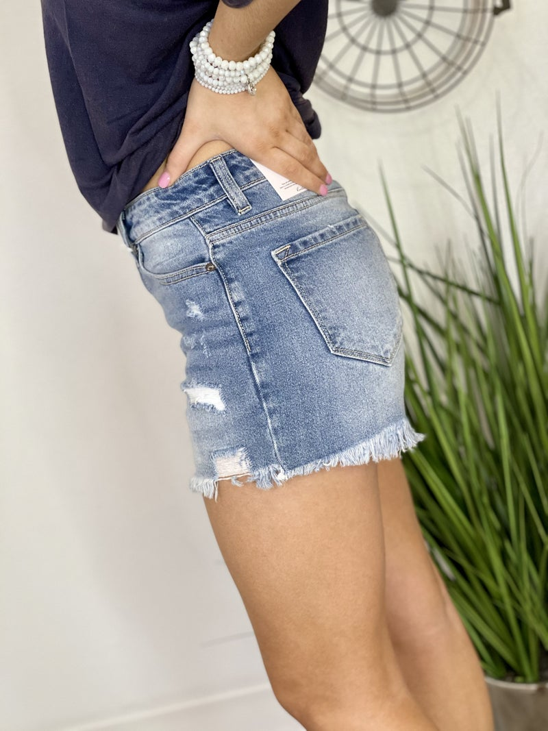 The Medium Wash Bahama Mama Shorts