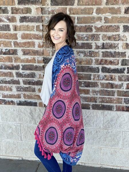 The Royal Mix Long Kimono