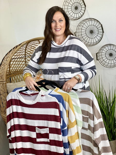 The Curvy Ramsey Pullover - 6 Colors