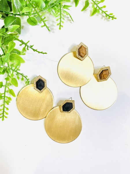 The Cloie Gold Earrings-2 Colors