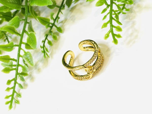 Triple CZ Wrap Ring