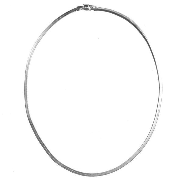 Skinny Sliver Herringbone Necklace