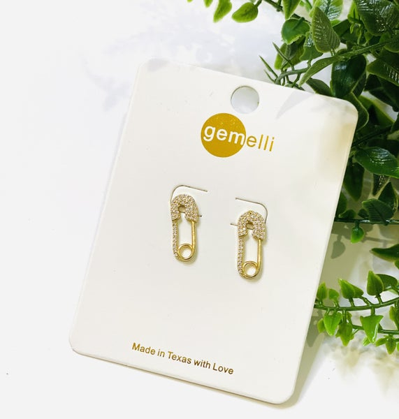 Safety Pin Studs