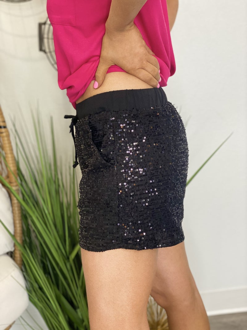 The Sequin VIP Shorts in 4 Colors - All Sizes