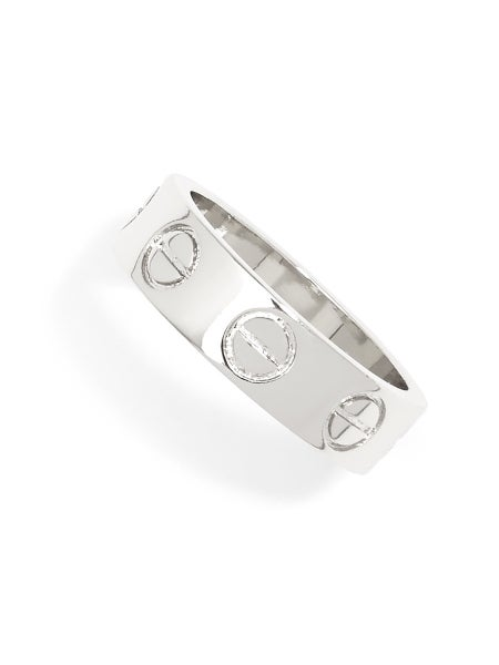 Stencil Banded Ring-2 Colors
