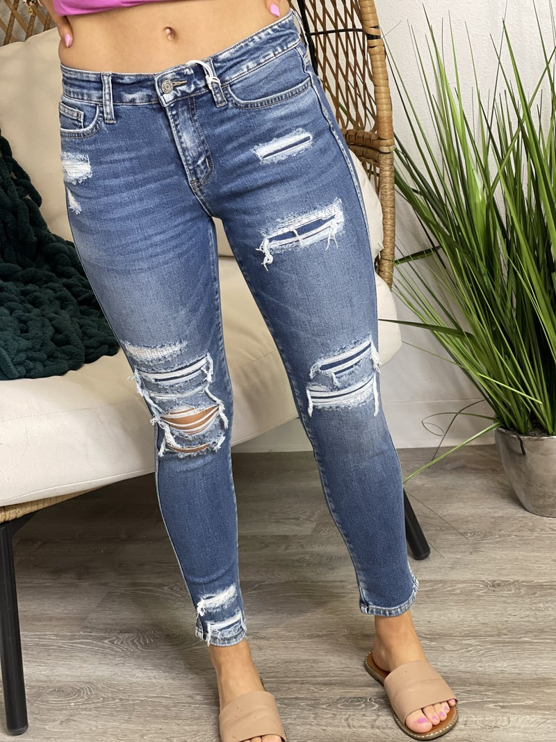 The Patched Kate Skinnies