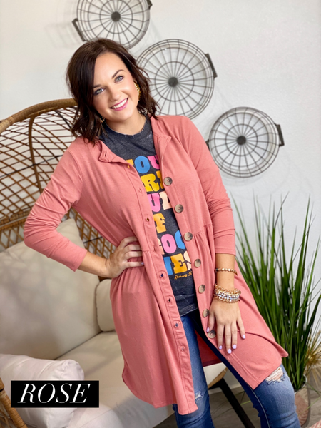 STEAL Button Front Cardigan