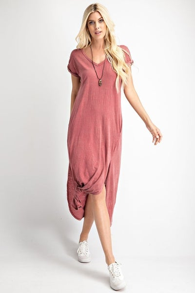 The Rica Maxi in Burgundy