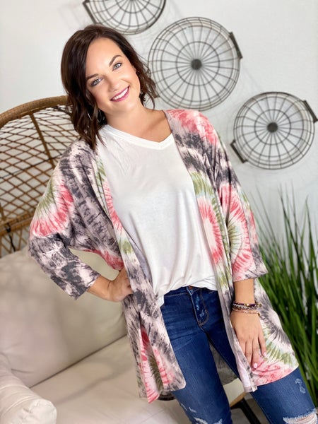 The Judy Cardigan in Coral-All Sizes