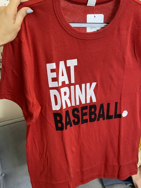 The Red Eat Drink Baseball Tee