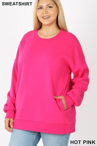 STEAL CURVY Pocket Pullover