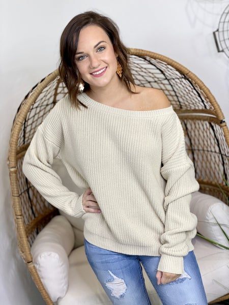 Ashley's Signature Sweater in Natural
