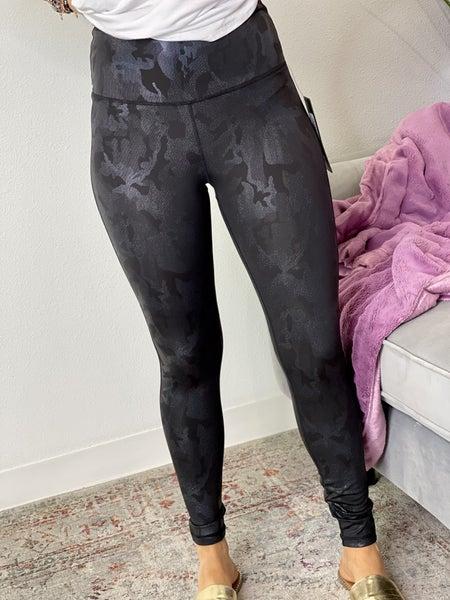 Black Camo Spark Leggings
