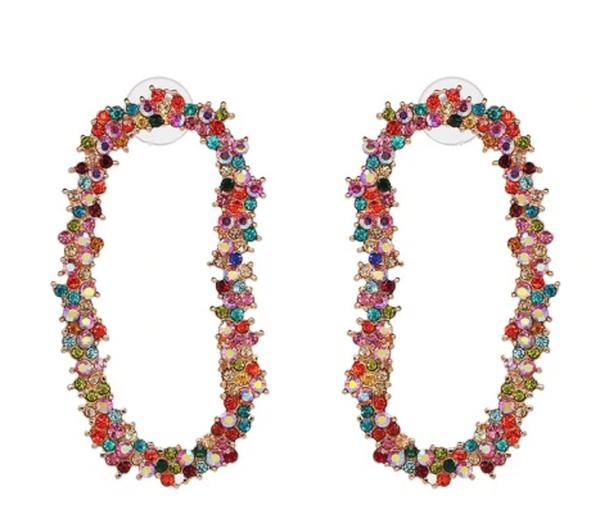 Crystal Garland Drop Earrings
