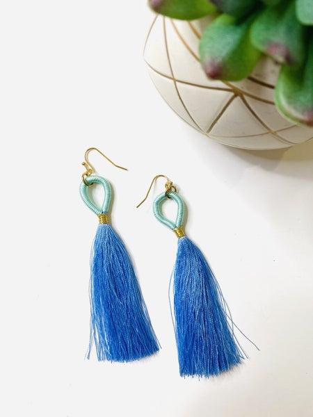The Blue Duo Earrings