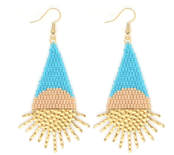 Beaded Sunbeam Earrings