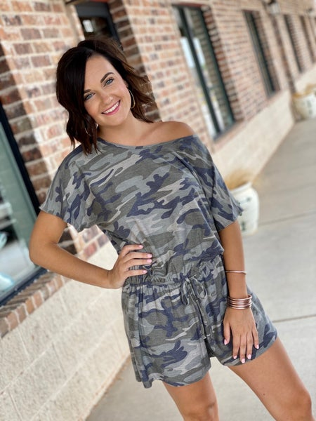 The Cozy Camo Romper