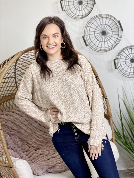 The Nora Sweater in Oatmeal