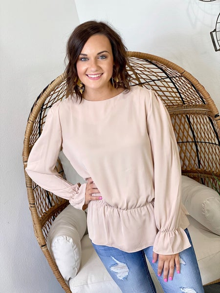 LD STEAL #25: Solid Peplum Blouse
