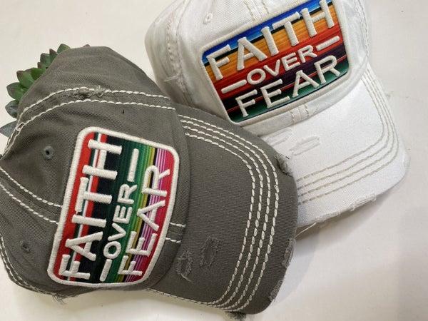 Faith Over Fear Hat-2 Colors