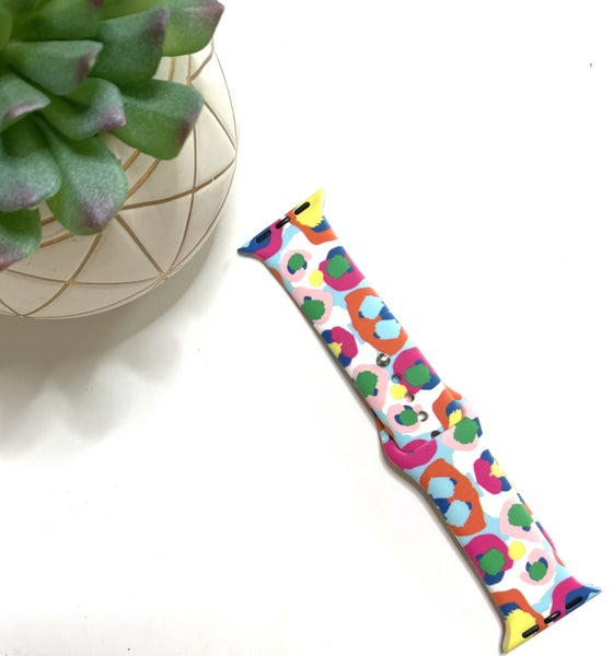 Multi Color Cheetah Watch Band