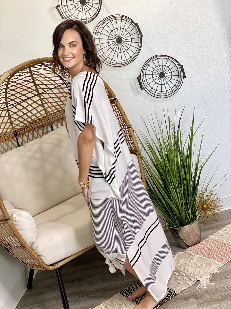 The Striped Kaftan Cover Up