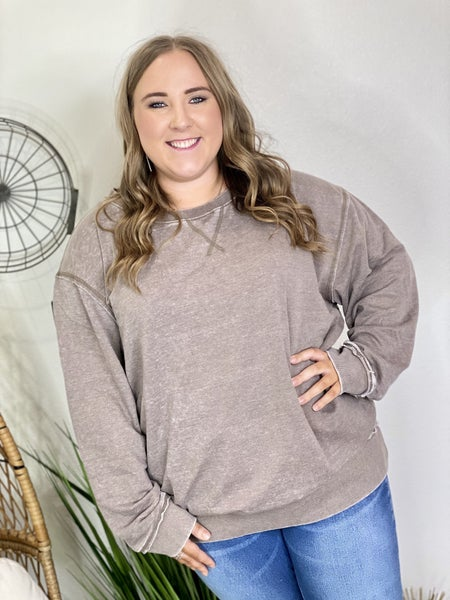 The Curvy Greystone Pullover