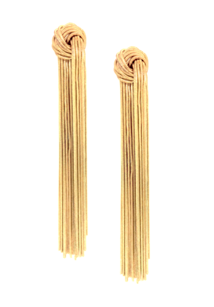 Gold Knot Duster Earrings