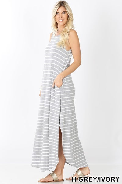 The STEAL Striped Tank Maxi-All Sizes