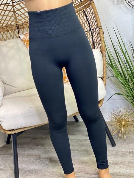 PF Steal #49 - Black Fleece Lined Leggings