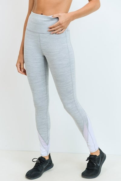 The Grey Mesh Leggings