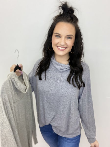 Andree Fall Neck Top in 2 Colors-All Sizes