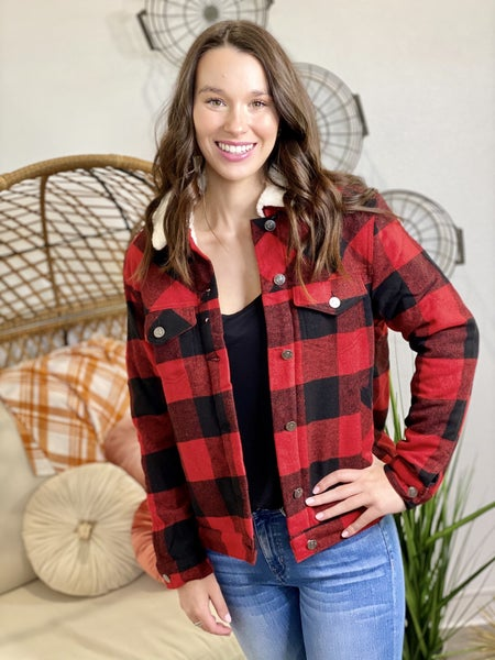 The Checkmate Jacket in Red