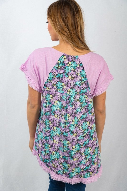 The Lilac Back Hem Top