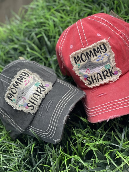 Mommy Shark Patch Hat