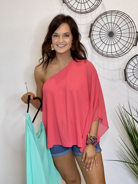 One Shoulder Bold Top in 3 Colors